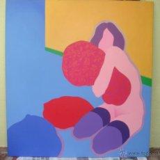 """Arte: EDUARDO URCULO (1938.+2003). ÓLEO SOBRE LIENZO """"EL ABRAZO DEL COLOR"""". 1970.. Lote 39826323"""