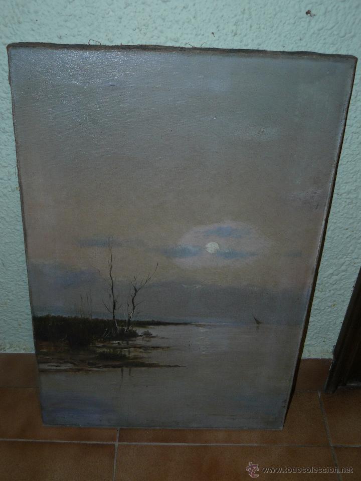 OLEO / TELA - FDO S MATILLA - AMANECER (Arte - Pintura - Pintura al Óleo Contemporánea )