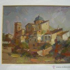 Arte: CUADRO DE MARTINEZ NAVARRO - PUEBLO SERRANIA MORELLA -. Lote 39874768