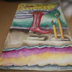 Arte: A. CUSPINERA. TECNICA MIXTA SOBRE CARTULINA.. Lote 39905941