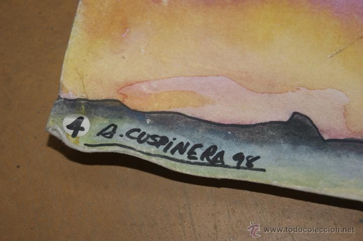 Arte: A. Cuspinera. Tecnica mixta sobre cartulina. - Foto 3 - 39905941