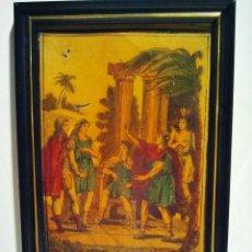 Arte: LOS INCAS. ÓLEO SOBRE HOJALATA CON MARCO. ESCUELA FRANCESA, S. XIX.. Lote 39910953