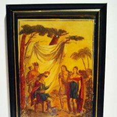 Arte: LOS INCAS. ÓLEO SOBRE HOJALATA CON MARCO. ESCUELA FRANCESA, S. XIX.. Lote 39910955