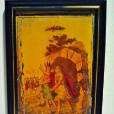 Arte: LOS INCAS. ÓLEO SOBRE HOJALATA CON MARCO. ESCUELA FRANCESA, S. XIX.. Lote 39910956