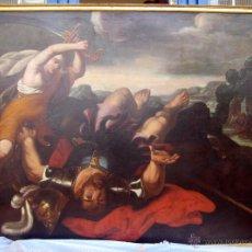 Arte: ANTIGUA PINTURA BARROCO ITALIANO DAVID Y GOLIAT S XVII. Lote 39914511
