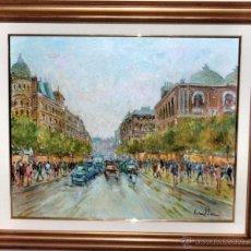 Arte: JOAN SOLER TOBELLA. OBRA ORIGINAL. OLEO SOBRE LIENZO CON MARCO. PARIS. Lote 39975496