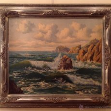 Kunst - Pintura Óleo Marina del Pintor / Àngel Planells / 1901-1989 - 39983017