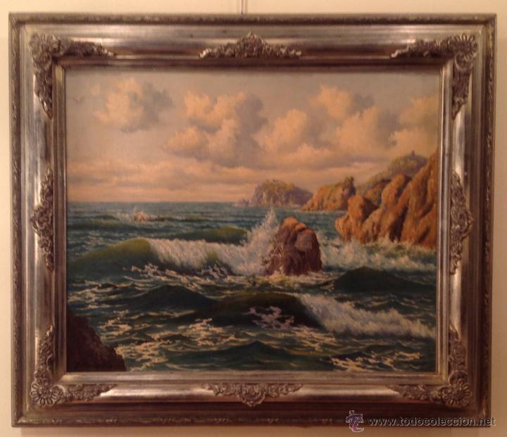 Arte: Pintura Óleo Marina del Pintor / Àngel Planells / 1901-1989 - Foto 2 - 39983017