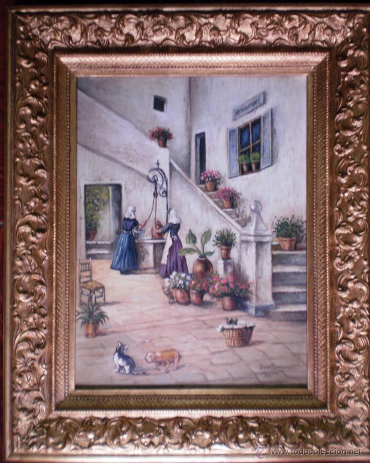 PRECIOSO CUADRO PATIO ANDALUZ - JUAN IZQUIERDO (Arte - Pintura - Pintura al Óleo Contemporánea )