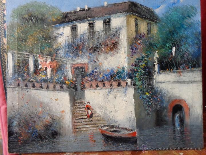 MAGISTRAL OLEO PINTURA SOBRE LIENZO DEL PINTOR MALAGUEÑO MORENO ORTEGA (Arte - Pintura - Pintura al Óleo Contemporánea )