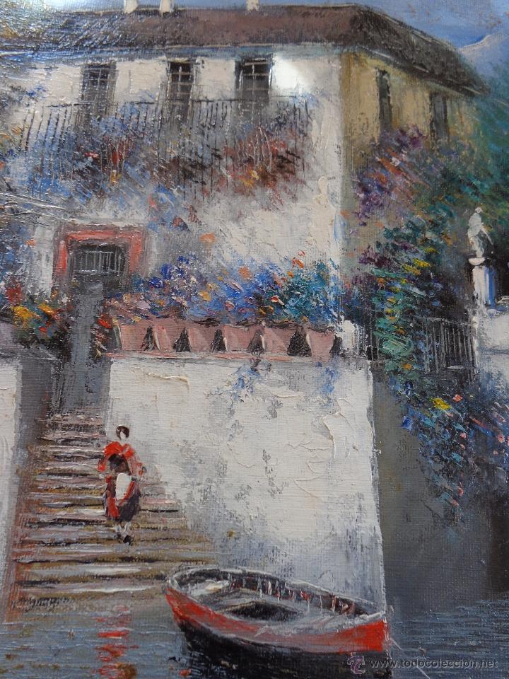 Arte: MAGISTRAL OLEO PINTURA SOBRE LIENZO DEL PINTOR MALAGUEÑO MORENO ORTEGA - Foto 2 - 171157453