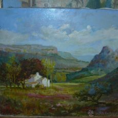 Arte: OLEO / TELA - FDO. CAM - PAISAJE CON ERMITA. Lote 40051425