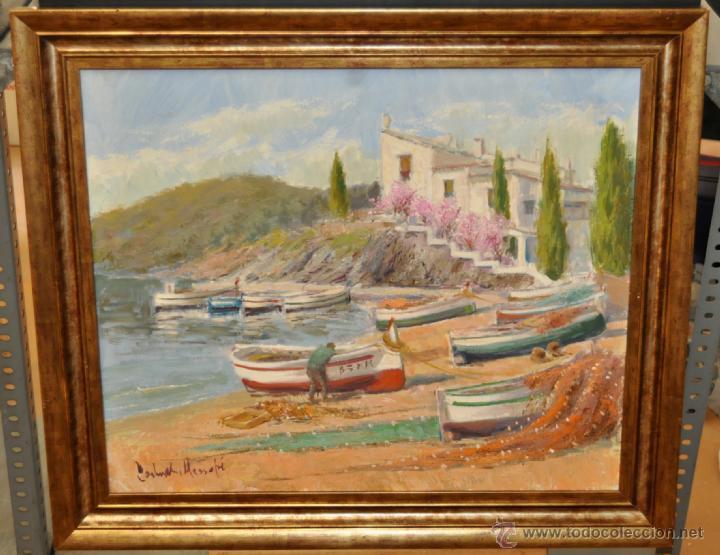 FRANCISCO CARBONELL MASSABÉ (BARCELONA,1928) OLEO TELA. PORT LLIGAT (CADAQUÉS) GIRONA (Arte - Pintura - Pintura al Óleo Contemporánea )