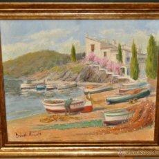 Arte: FRANCISCO CARBONELL MASSABÉ (BARCELONA,1928) OLEO TELA. PORT LLIGAT (CADAQUÉS) GIRONA. Lote 40065174