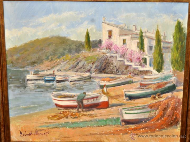 Arte: FRANCISCO CARBONELL MASSABÉ (BARCELONA,1928) OLEO TELA. PORT LLIGAT (CADAQUÉS) GIRONA - Foto 2 - 40065174