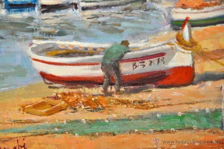Arte: FRANCISCO CARBONELL MASSABÉ (BARCELONA,1928) OLEO TELA. PORT LLIGAT (CADAQUÉS) GIRONA - Foto 3 - 40065174