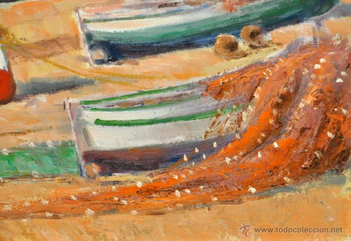 Arte: FRANCISCO CARBONELL MASSABÉ (BARCELONA,1928) OLEO TELA. PORT LLIGAT (CADAQUÉS) GIRONA - Foto 4 - 40065174