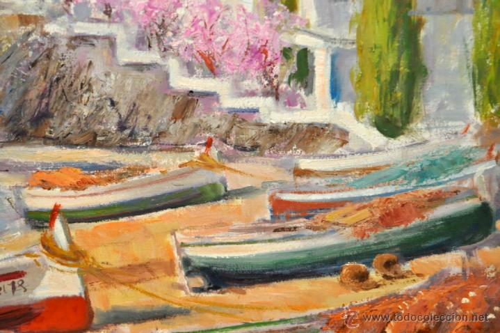 Arte: FRANCISCO CARBONELL MASSABÉ (BARCELONA,1928) OLEO TELA. PORT LLIGAT (CADAQUÉS) GIRONA - Foto 5 - 40065174