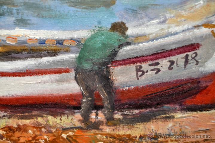 Arte: FRANCISCO CARBONELL MASSABÉ (BARCELONA,1928) OLEO TELA. PORT LLIGAT (CADAQUÉS) GIRONA - Foto 7 - 40065174