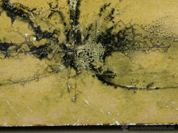 Arte: técnica mixta sobre tabla firmada Lujan años 50-60 montado sobre aglomerado forrado de lino teñido - Foto 6 - 112598856