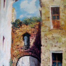 Arte: BESALÚ. GIRONA. ÓLEO ORIGINAL FIRMADO DE VILA. Lote 40164608