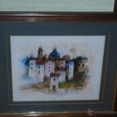 Arte: PASTEL - FIRMA ILEGIBLE - PAISAJE URBANO. Lote 40177929