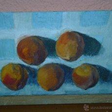 Arte: OLEO / TELA - ANÓNIMO - MELOCOTONES. Lote 40202887