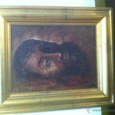 Arte: PINTURA AL OLEO DE CASTILLO. CABEZA DE SAN JUAN. Lote 40217916