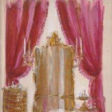Arte: DISEÑO PINTADO A MANO POR MONOLO MUNTAÑOLA 1952. Lote 40230704