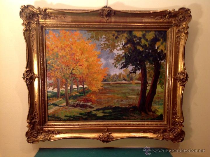 Arte: Cuadro al óleo del pintor Ramón Lluís Monlleó Medidas 85X72CM - Foto 2 - 40242885