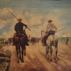 Arte: OLEO 60 X 37 FIRMADO J.VELAZQUEZ. Lote 40287570