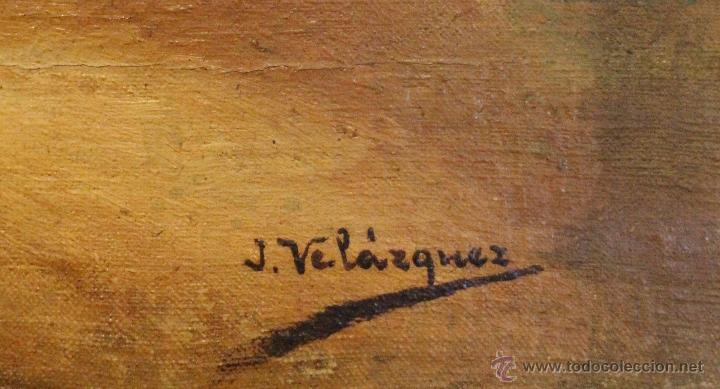 Arte: Oleo 60 x 37 firmado J.VELAZQUEZ - Foto 2 - 40287570