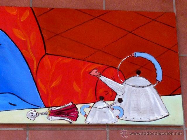 Arte: Janazuk.gran óleo de Marc jesús vives.(ibiza 1966)La Siesta. - Foto 4 - 45240609