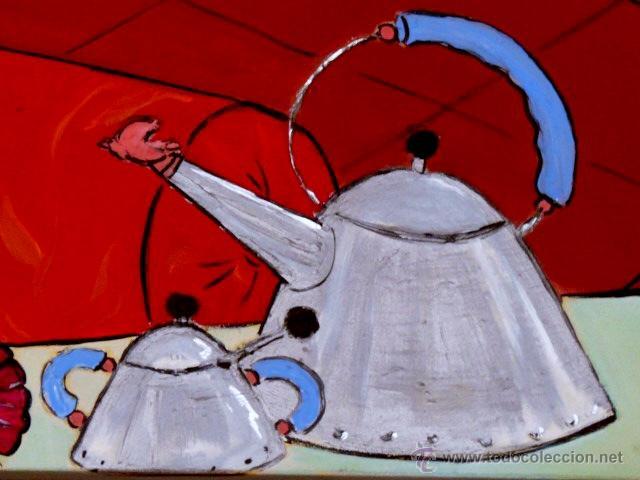 Arte: Janazuk.gran óleo de Marc jesús vives.(ibiza 1966)La Siesta. - Foto 5 - 45240609