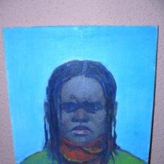 Arte: OLEO 7 TELA - ANÓNIMO - RETRATO MASCULINO - HOMBRE DE COLOR. Lote 40369313