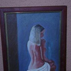 Arte: OLEO / TELA - A DOMENECH - DESNUDO DE ESPALDAS.. Lote 40385680