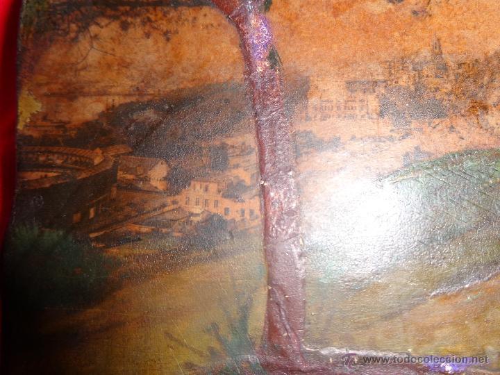 Arte: PINTURA ANTIGUO RECUERDO DE MÁLAGA OLEO SOBRE TABLA PRECIOSO CON DETALLES CATEDRAL,MALAGUETA, PUERTO - Foto 4 - 40386662