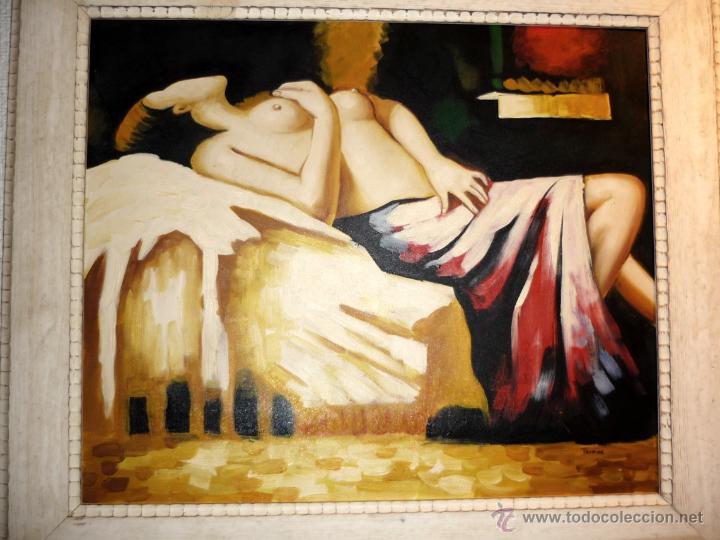 Arte: OLEO SOBRE LIENZO FIRMADO .MARCO MODERNO DE CALIDAD VER MEDIDAS - Foto 3 - 40403078