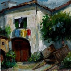 Arte: ÓLEO SOBRE CARTÓN PRENSADO.A LA SOLANA. Lote 40647336