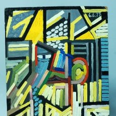 Arte: OLEO SOBRE TABLA FIRMADO Y FECHADO AMAROTTO DI SAROMNO 1977. Lote 40658329
