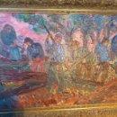 Arte: ANTIGUO CUADRO, PINTURA AL OLEO SOBRE TABLA, AUTOR GUERRA MONCAYO. Lote 109013967