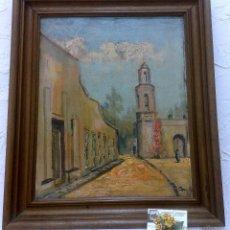 Arte: CALLE CON ERMITA.- OLEO SOBRE LIENZO, FIRMADO.. Lote 40758547
