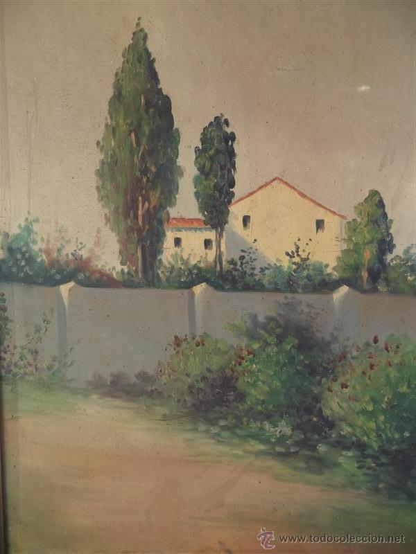 Arte: pintura antigua paisaje - Foto 2 - 40760600