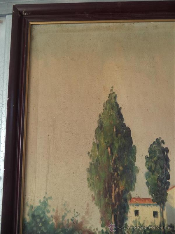 Arte: pintura antigua paisaje - Foto 4 - 40760600