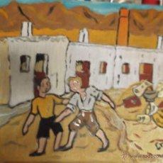 Arte: ARRASTRANDO LATONES DE CRESPO. Lote 40810024