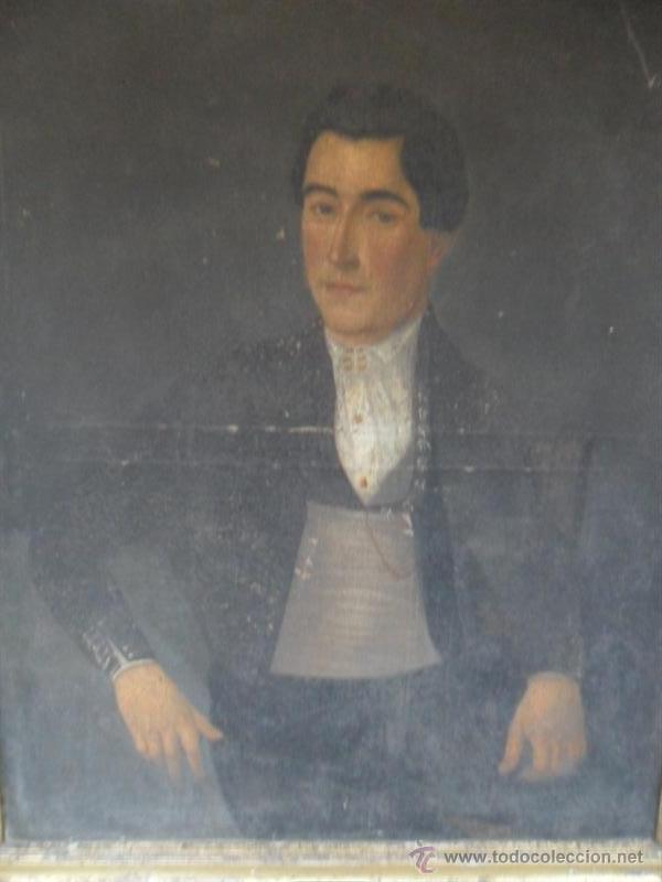 Arte: retrato antiguo año 1850 - Foto 2 - 40858212