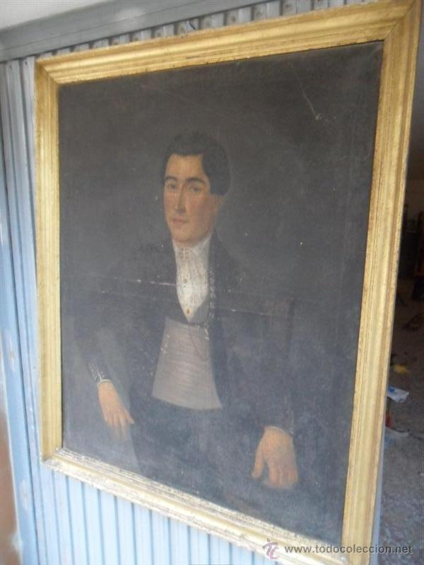 Arte: retrato antiguo año 1850 - Foto 3 - 40858212