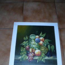 Arte: IMPRESION SOBRE TELA - ANÓNIMO - BODEGON DE FRUTA. Lote 40871319