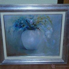Arte: OLEO / TELA FDO. CANETE - JARRON CON FLORES. Lote 40926358