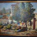 Arte: EXTRAORDINARIO CUADRO, PINTURA AL OLEO DEL PINTOR IMPRESIONISTA MALAGUEÑO GABRIEL MUÑOZ GARCÍA. Lote 40960035